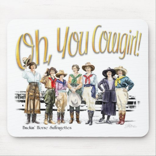 Oh You Cowgirl! Collection Mousepads