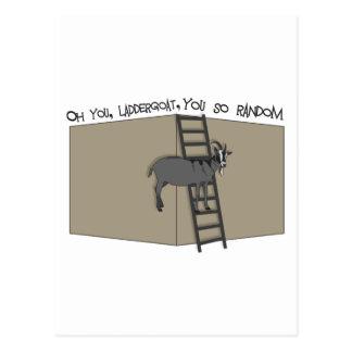 Oh You, LadderGoat , You so Random Postcard