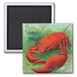 Oh You Lobster Scene 2 Inch Square Magnet