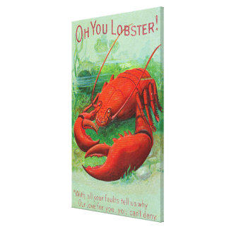 Oh You Lobster Scene Gallery Wrapped Canvas