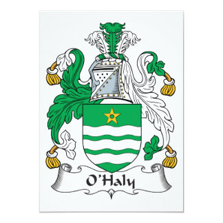 O'Haly Family Crest 5x7 Paper Invitation Card