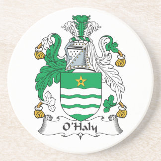 O'Haly Family Crest Beverage Coasters