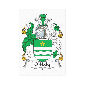 O'Haly Family Crest Canvas Print