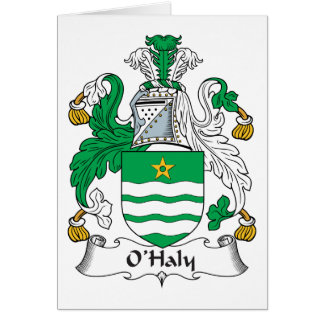 O'Haly Family Crest Greeting Card