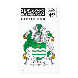 O'Haly Family Crest Postage