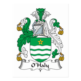 O'Haly Family Crest Postcard