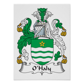 O'Haly Family Crest Poster