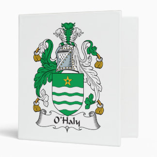 O'Haly Family Crest Vinyl Binders