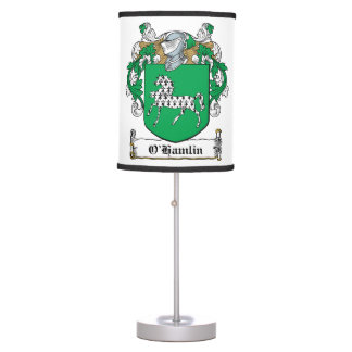 O'Hamlin Family Crest Desk Lamp