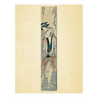 Ohan and Choemon by Torii, Kiyonaga Ukiyoe Postcard
