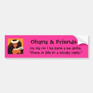 Ohana & Friends Bumper Sticker Car Bumper Sticker