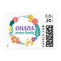 Ohana Means Family | Postage Stamp