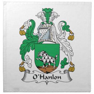 O'Hanlon Family Crest Cloth Napkin