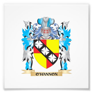 O'Hannon Coat of Arms - Family Crest Photo Print