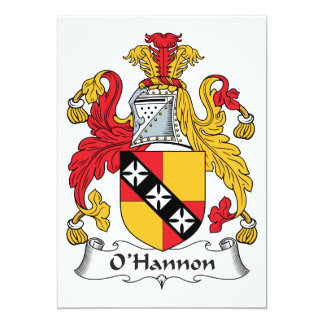 O'Hannon Family Crest Custom Announcements