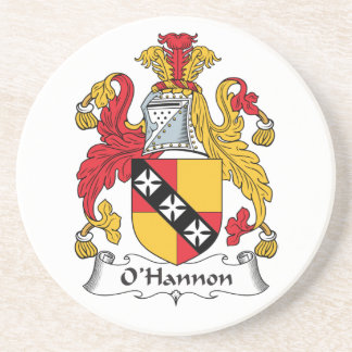 O'Hannon Family Crest Drink Coasters