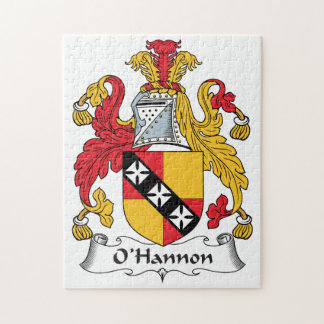 O'Hannon Family Crest Jigsaw Puzzles