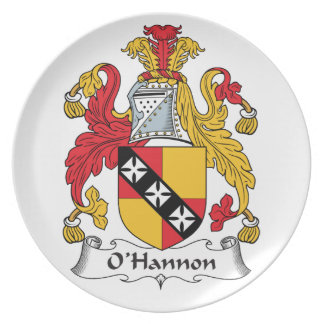 O'Hannon Family Crest Plate