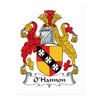 O'Hannon Family Crest Post Cards