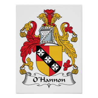 O'Hannon Family Crest Posters