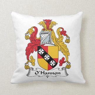 O'Hannon Family Crest Throw Pillows