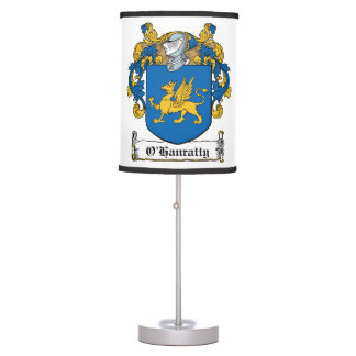 O'Hanratty Family Crest Desk Lamps