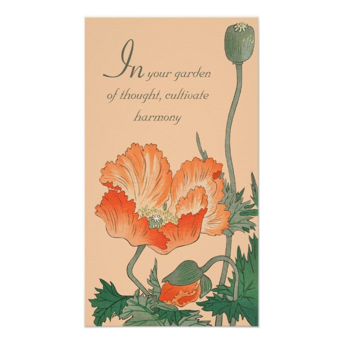 Ohara Koson Beautiful Japanese poppy CC0811 Quote Poster