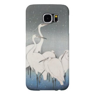 Ohara Koson's Vintage Egrets in the Snow Samsung Galaxy S6 Cases