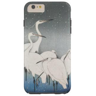 Ohara Koson's Vintage Egrets in the Snow Tough iPhone 6 Plus Case