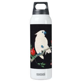 Ohara Shoson, Cockatoo and Pomegranate ukiyo-e 16 Oz Insulated SIGG Thermos Water Bottle