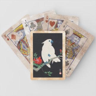 Ohara Shoson, Cockatoo and Pomegranate ukiyo-e Bicycle Playing Cards