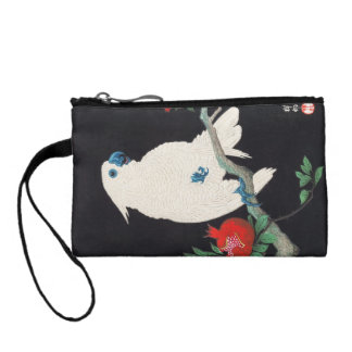 Ohara Shoson, Cockatoo and Pomegranate ukiyo-e Coin Wallet