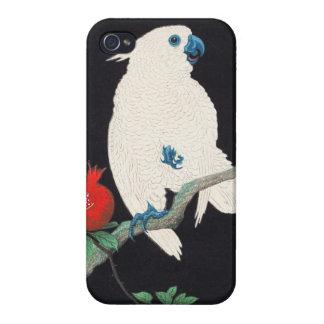 Ohara Shoson Cockatoo and Pomegranate ukiyo-e Covers For iPhone 4