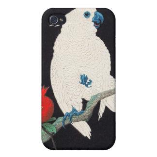 Ohara Shoson Cockatoo and Pomegranate ukiyo-e iPhone 4/4S Case