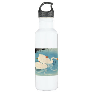 Ohara Shoson Two Sweeming Geese japanese art 24oz Water Bottle