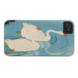 Ohara Shoson Two Sweeming Geese japanese art iPhone 4 Cover