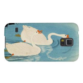 Ohara Shoson Two Sweeming Geese japanese art Galaxy S5 Covers