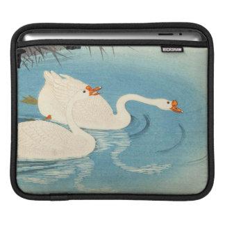 Ohara Shoson Two Sweeming Geese japanese art iPad Sleeves