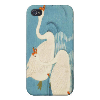 Ohara Shoson Two Sweeming Geese japanese art iPhone 4 Cases