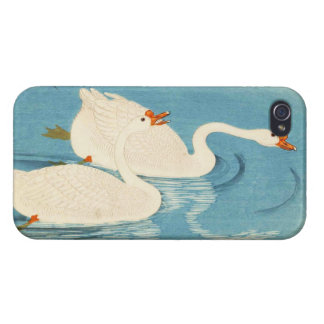 Ohara Shoson Two Sweeming Geese japanese art iPhone 4/4S Covers
