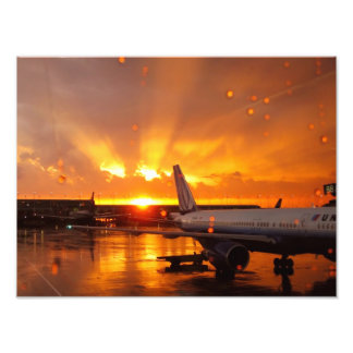 O'Hare Airport Sunset Photo Print
