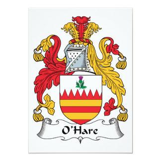 "O'Hare Family Crest 5"" X 7"" Invitation Card"