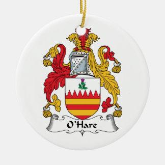 O'Hare Family Crest Christmas Ornament