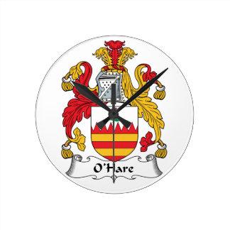 O'Hare Family Crest Clocks