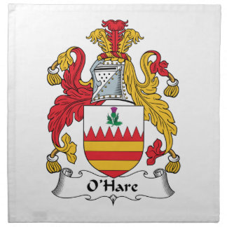 O'Hare Family Crest Cloth Napkin