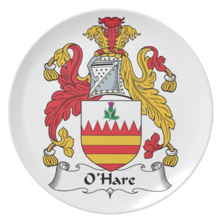 O'Hare Family Crest Party Plates