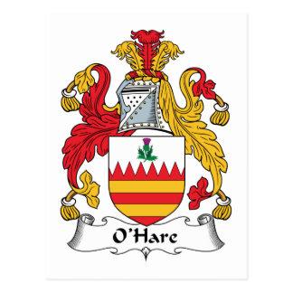 O'Hare Family Crest Postcard