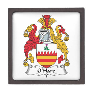 O'Hare Family Crest Premium Jewelry Boxes
