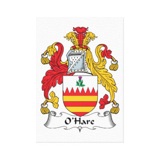 O'Hare Family Crest Stretched Canvas Print