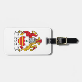 O'Hare Family Crest Tags For Bags